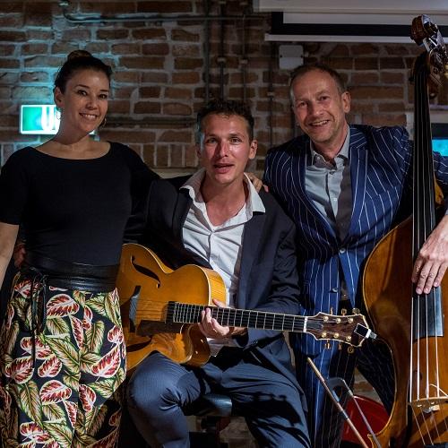jazz band PIEN tijdens event in Kortrijk